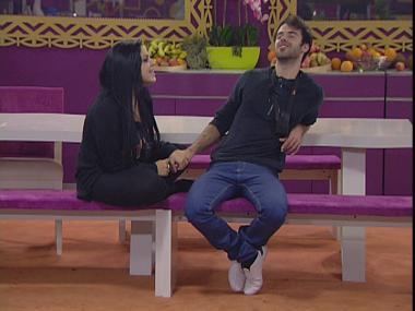 Rúben e Tatiana em cantorias