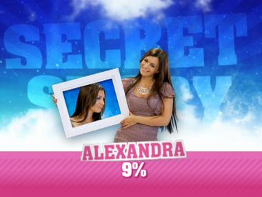 O público escolheu Alexandra para entrar na Casa
